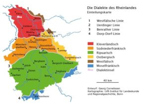 Dialektkarte Rheinisch Niederrheinisch Min